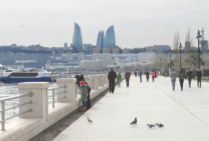 Baku Boulevard is one of the most pleasing areas of the city