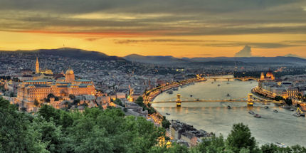 Looking over Budapest from Castle Hill