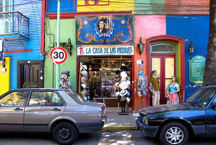 Buenos Aires' colourful La Boca neighbourhood