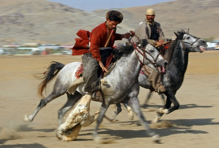Buzkashi is played throughout central Asia