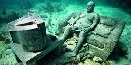 The Underwater Museum doubles up as a substrate
