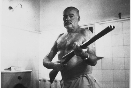 Ernest Hemingway at his house in Cuba