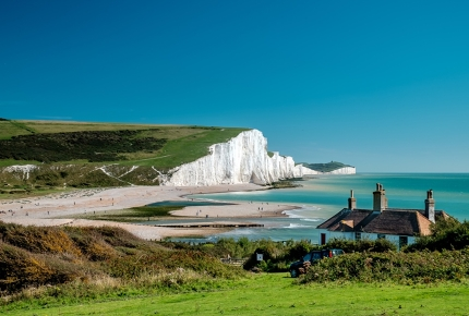Get a better view of the white cliffs of the Seven Sisters