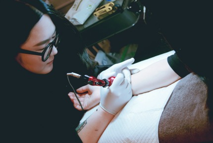 In South Korea, tattoos remain truly underground