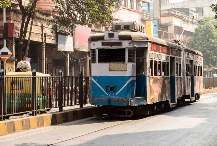 Hopping on a tram is a good way to get around Kolkata