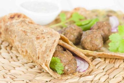 Kathi rolls are a popular roadside snack