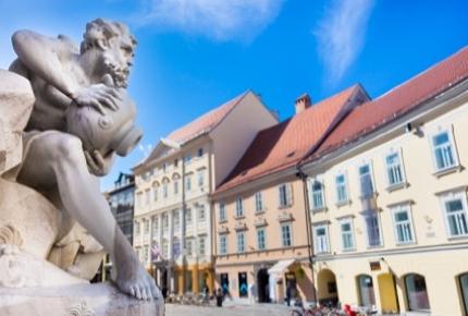 Ljubljana has pedestrian friendly streets