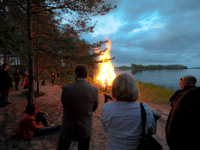 Finland Midsummer bonfire
