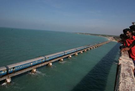 Picturesque Pamban Bridge connects Rameswaram to mainland India