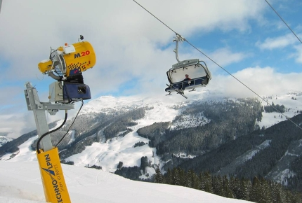 Pricey ski cannons are the vital defenses for a shortage in snow.