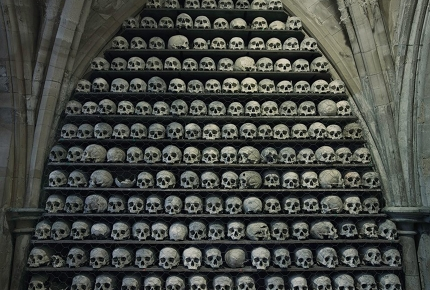 St Leonard's Church is one of only two ossuaries in the UK