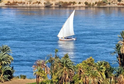 Take a traditional felucca boat for a cruise down the Nile.