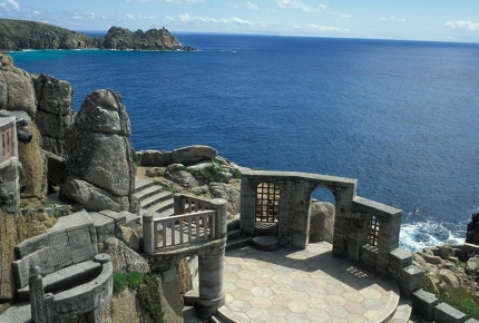 The Minack Theatre, perched on the cliffs high above the Atlantic Ocean