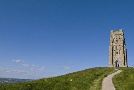 The Tor provides fantastic views of the English countryside