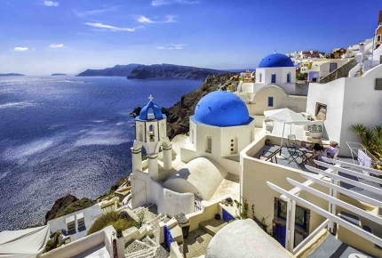 The isle of Santorini, Greece