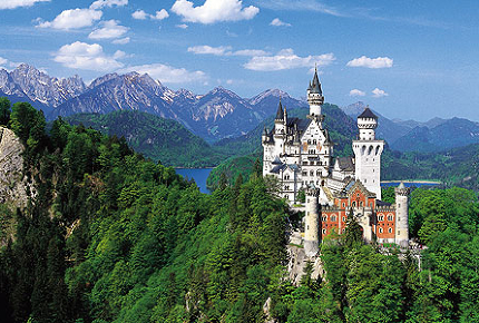 The nineteenth-century Neuschwanstein Castle