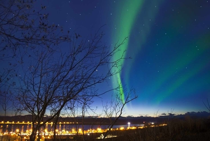 The northern lights in Kiruna, Sweden