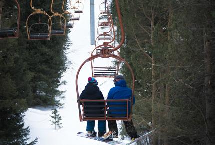 The resort's cheap lift pass makes it popular with Khazaks