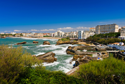 The rough coast of Biarritz