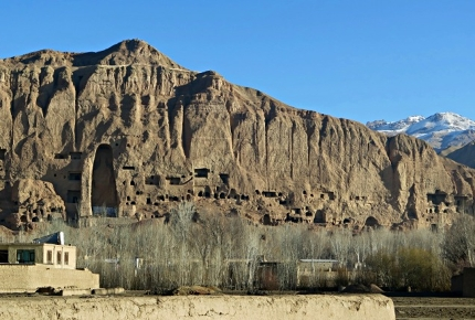 These mountains once housed huge, 6th-century Buddha statues