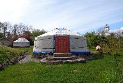 This cool yurt is only a few minutes from the beach
