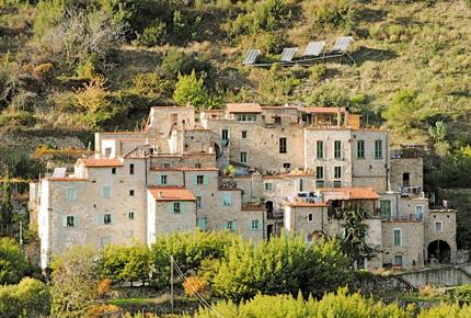 Torri Superiore is an eco-village in the Ligurian Alps