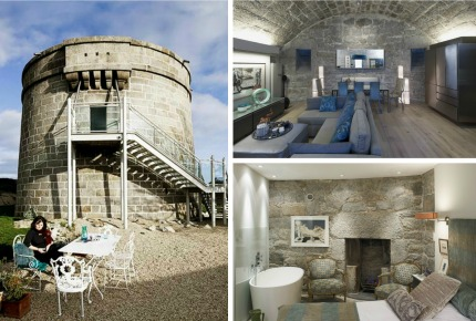 Who said a stay in an 1804 coastal defence tower couldn't be stylish?