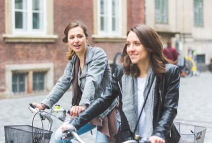 Two-wheeled commuters in Copenhagen