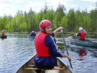 Canoeing finland