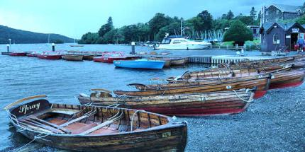 Row boats for hire at Windermere Lake © Rebecca Kent