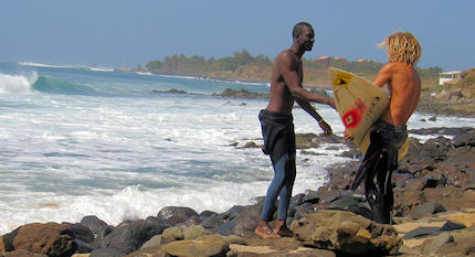 Senegal surfing