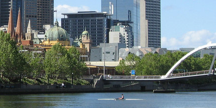City Centre on the north bank of the Yarra River