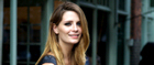 Mischa Barton in front of her new London boutique