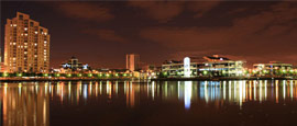 Salford Quays At Night, Manchester