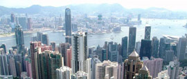 View from Peak Hill, Hong Kong