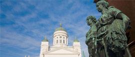 Statue in Senate Square, Helsinki