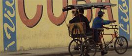 A pedicab in Havana