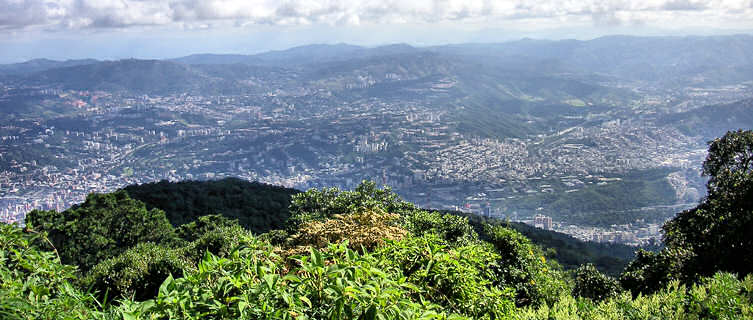 Caracas viewed from the surrounding mountains