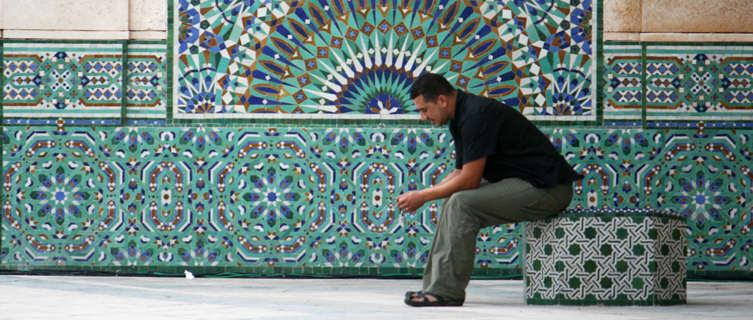 Evening prayer in Hassan II Mosque in Casablanca