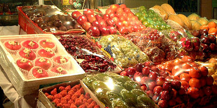 Fruit sold at a local market.