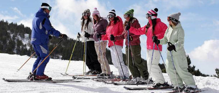 Ski school in the Grandvalira ski area