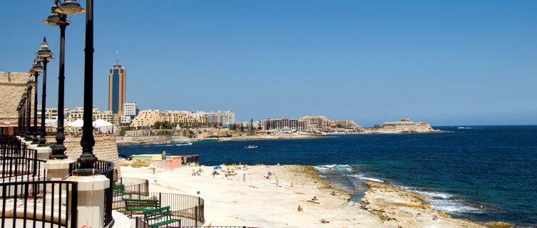 Sliema Malta  city images : Sliema Malta Strand images