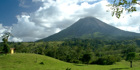 Mt. Arenal rises above the lush Costa Rican landscape.