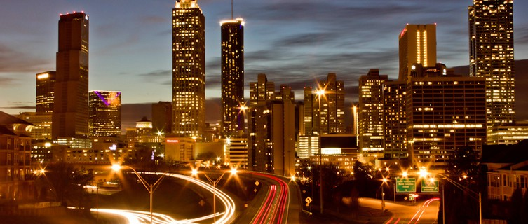 Atlanta's skyline by night
