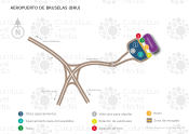 Aeropuerto de Bruselas map