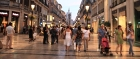 Bustling Larios Street in the evening