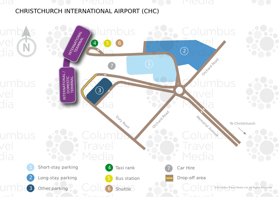 Location Christchurch International Airport Is Located 12km 7 5 Miles From
