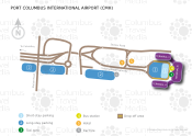 Port Columbus International Airport map