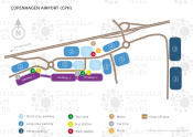 Copenhagen Airport map