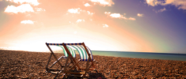 Don't even think you'll get Brighton beach to yourself